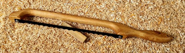 Character Oak Handle Fiddle Bow Bread Knife