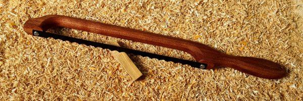 Mahogany Handle Fiddle Bow Bread Knife