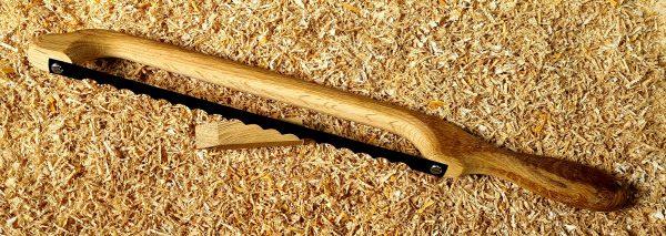 Oak Handle Fiddle Bow Bread Knife