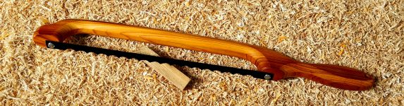 Yew Handle Fiddle Bow Bread Knife
